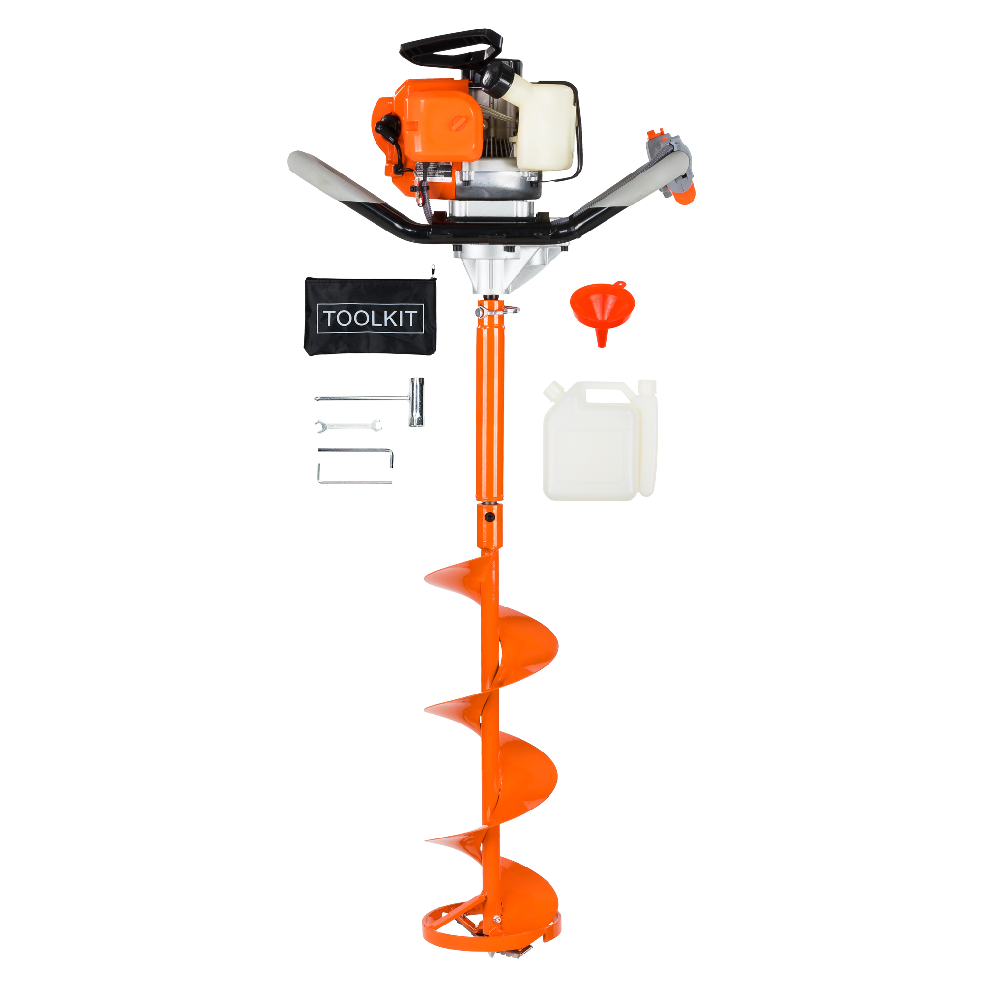 Gas Powered 52cc 2-cycle Ice Auger – Everything You Need to Start Drilling!